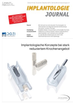 Deckblatt Implantologie Journal 08_2013
