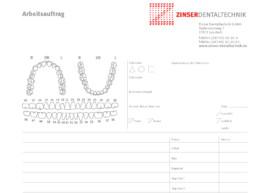 Zinser_Dentaltechnik_Arbeitsauftrag