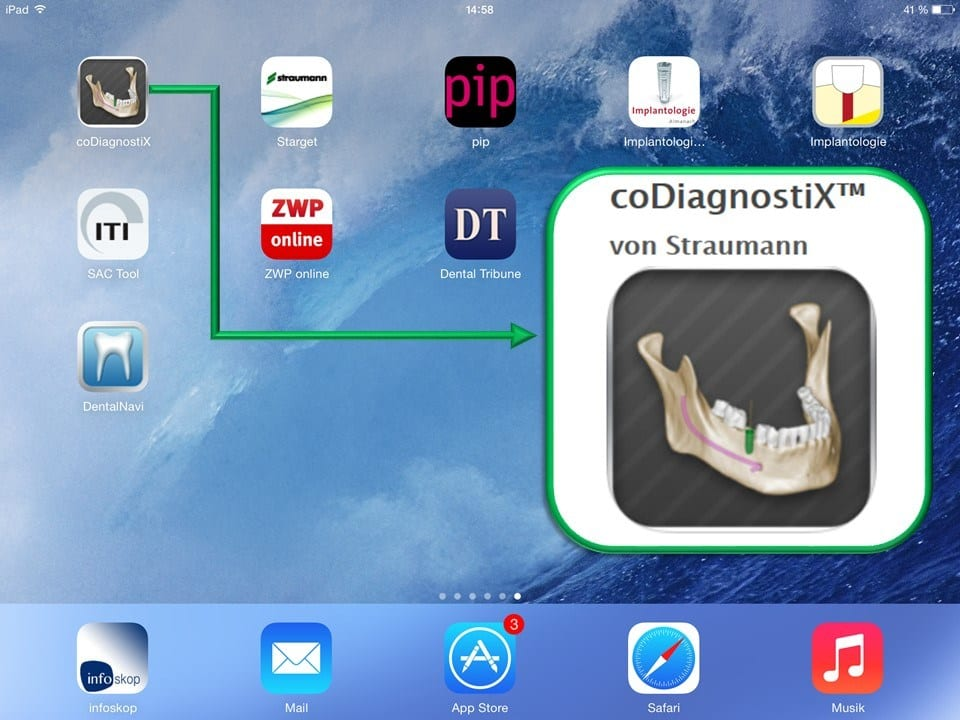 Abb 3 coDiagnostiX™ iPad® App
